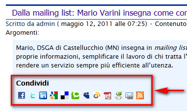 inserimento icone social in wordpress