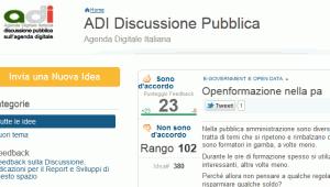 pagina della Discussione pubblica della Agenda digitale italiana (link all'idea)
