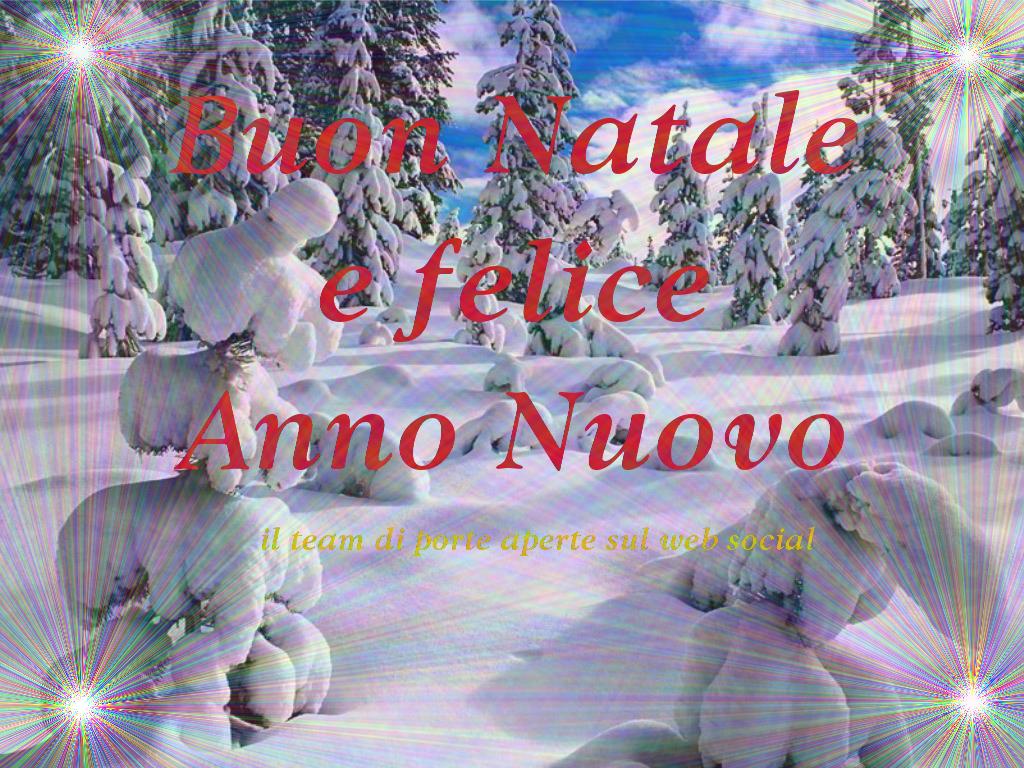 Buon Natale e Felice Anno Nuovo da porteapertesulweb social