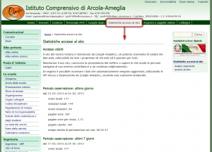 stralcio pagina Google Analytics IC Arcola Ameglia