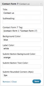 widget per contatti